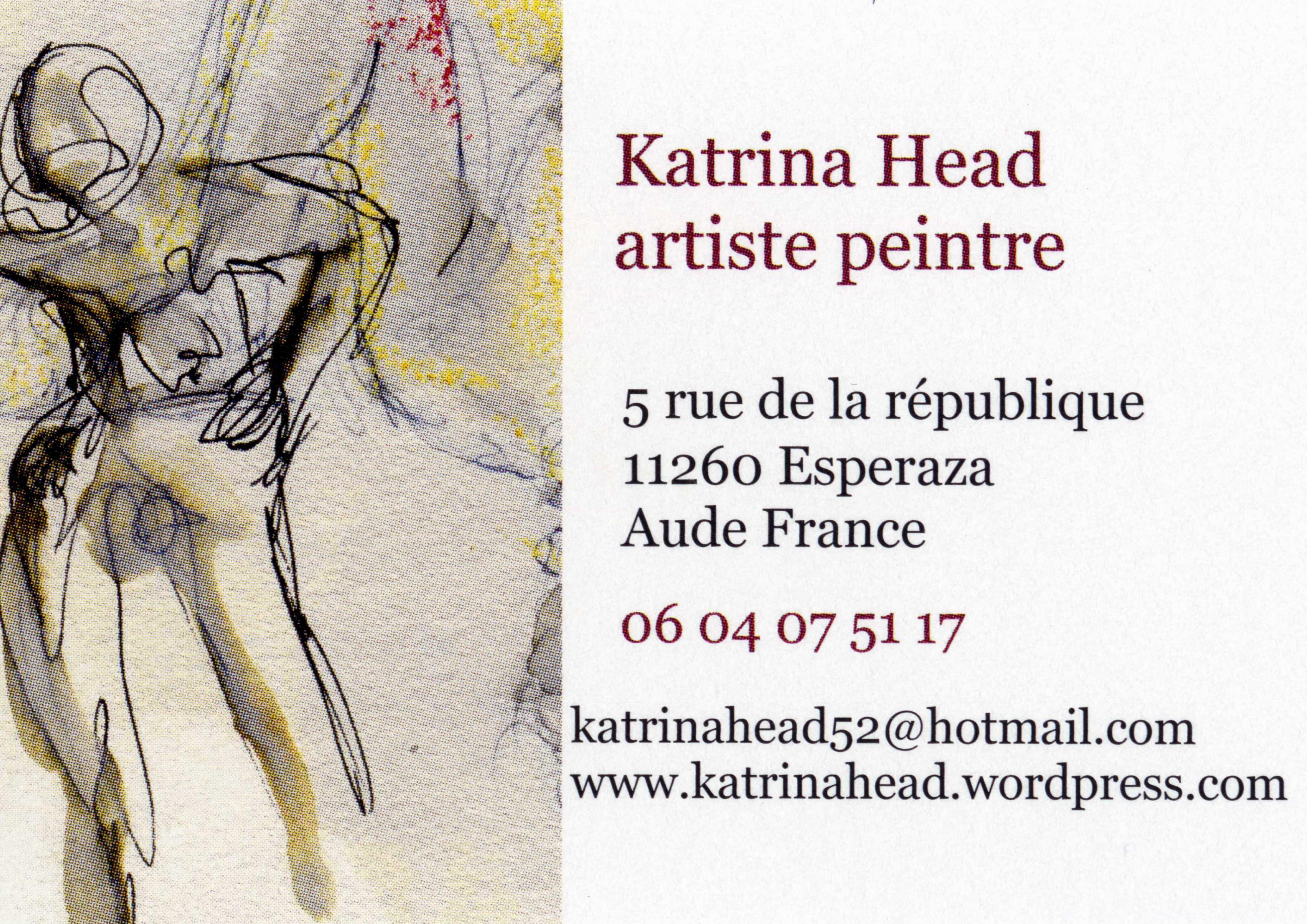 Business Card Carte De Visite Katrina Head