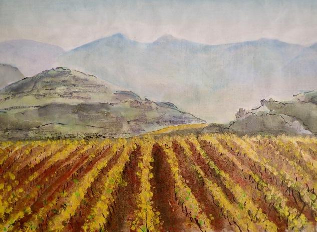 les vignes et les montagnes